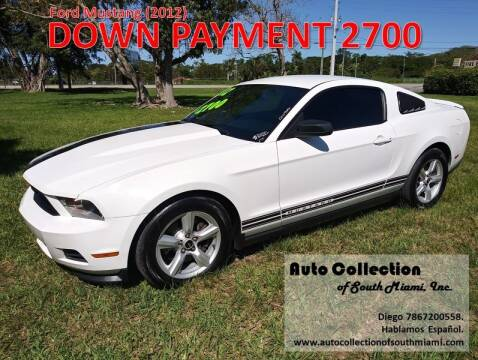 2012 Ford Mustang for sale at AUTO COLLECTION OF SOUTH MIAMI in Miami FL
