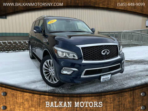 2017 Infiniti QX80 for sale at BALKAN MOTORS in East Rochester NY