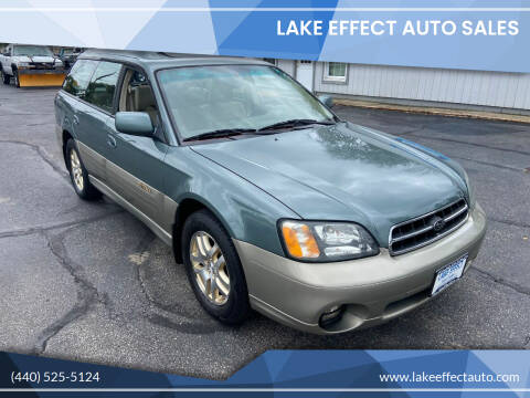 2002 Subaru Outback for sale at Lake Effect Auto Sales in Chardon OH