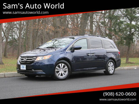 2015 Honda Odyssey for sale at Sam's Auto World in Roselle NJ