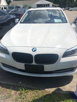 2013 BMW 5 Series for sale at Gralin Hampton Auto Sales in Summerville SC