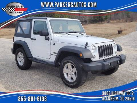 2017 Jeep Wrangler for sale at Parker's Used Cars in Blenheim SC