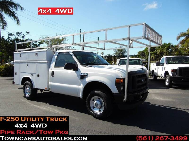 2010 Ford F-250 Super Duty for sale at Town Cars Auto Sales in West Palm Beach FL