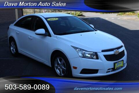 2013 Chevrolet Cruze for sale at Dave Morton Auto Sales in Salem OR