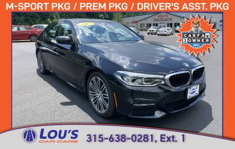2017 BMW 5 Series for sale at LOU'S CAR CARE CENTER in Baldwinsville NY