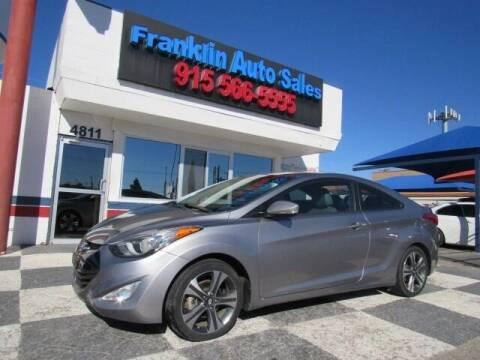 2013 Hyundai Elantra Coupe for sale at Franklin Auto Sales in El Paso TX