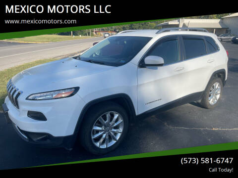 2016 Jeep Cherokee for sale at MEXICO MOTORS LLC in Mexico MO