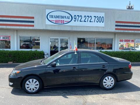 2006 Toyota Camry for sale at Traditional Autos in Dallas TX
