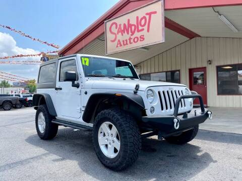 2017 Jeep Wrangler for sale at Sandlot Autos in Tyler TX