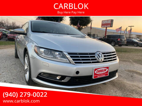 2013 Volkswagen CC for sale at CARBLOK in Lewisville TX