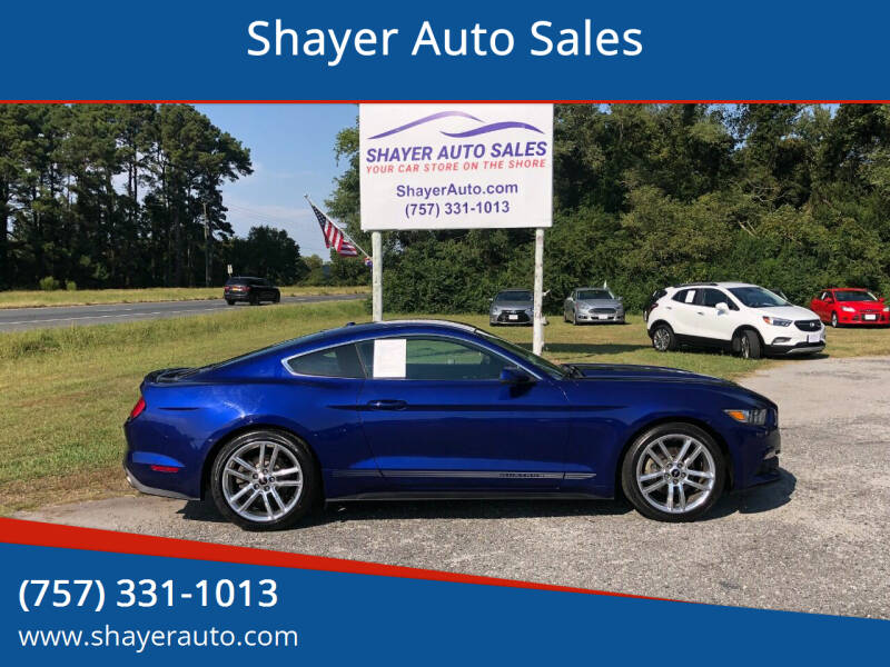 2016 Ford Mustang for sale at Shayer Auto Sales in Cape Charles VA