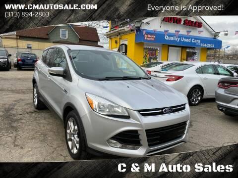 2013 Ford Escape for sale at C & M Auto Sales in Detroit MI