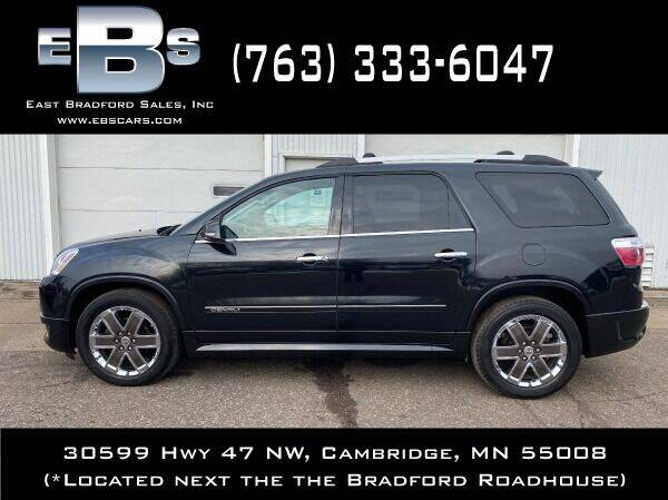 2012 GMC Acadia for sale at East Bradford Sales, Inc in Cambridge MN