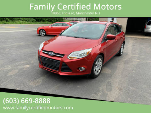 2012 Ford Focus for sale at Family Certified Motors in Manchester NH