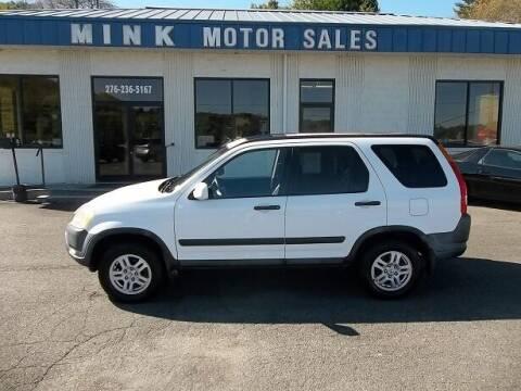 2003 Honda CR-V for sale at MINK MOTOR SALES INC in Galax VA