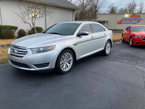 2017 Ford Taurus for sale at McCully's Automotive in Benton KY