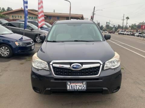 2014 Subaru Forester for sale at Aria Auto Sales in El Cajon CA