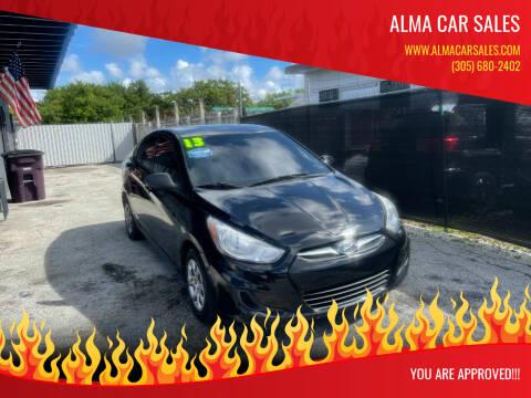 2013 Hyundai Accent for sale at Alma Car Sales in Miami FL