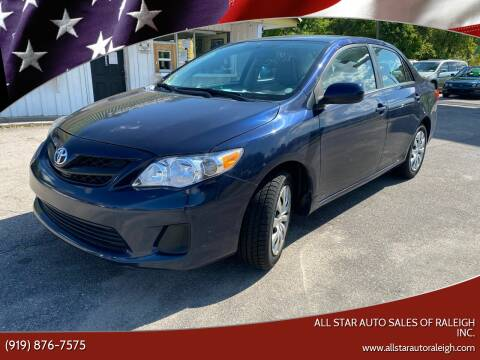 2013 Toyota Corolla for sale at All Star Auto Sales of Raleigh Inc. in Raleigh NC