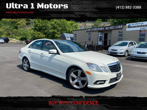2011 Mercedes-Benz E-Class for sale at Ultra 1 Motors in Pittsburgh PA