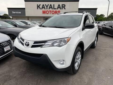 2015 Toyota RAV4 for sale at KAYALAR MOTORS in Houston TX
