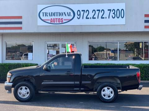 2004 GMC Canyon for sale at Traditional Autos in Dallas TX