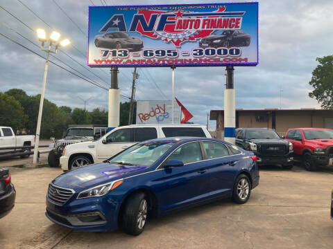 2017 Hyundai Sonata for sale at ANF AUTO FINANCE in Houston TX