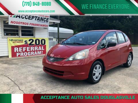 2009 Honda Fit for sale at Acceptance Auto Sales Douglasville in Douglasville GA