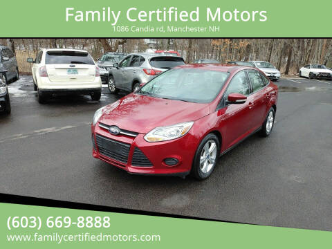 2014 Ford Focus for sale at Family Certified Motors in Manchester NH