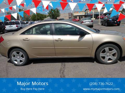 2007 Pontiac G6 for sale at Major Motors in Twin Falls ID