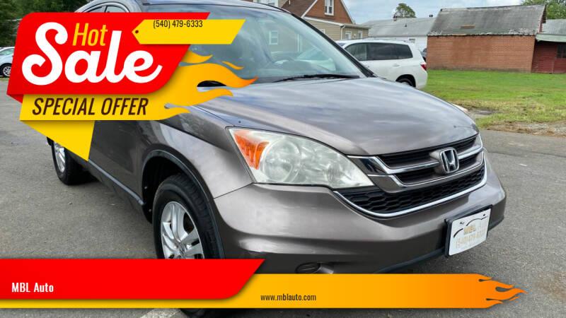 2011 Honda CR-V for sale at MBL Auto in Fredericksburg VA