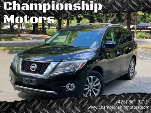 2013 Nissan Pathfinder for sale at Championship Motors in Redmond WA