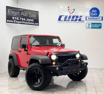 2017 Jeep Wrangler for sale at Elegant Auto Sales in Rancho Cordova CA