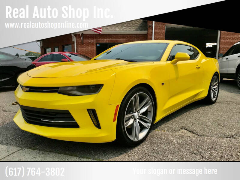2018 Chevrolet Camaro for sale at Real Auto Shop Inc. in Somerville MA