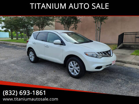 2011 Nissan Murano for sale at TITANIUM AUTO SALE in Houston TX