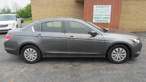 2009 Honda Accord for sale at LENTZ USED VEHICLES INC in Waldo WI