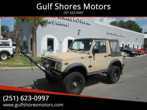 1993 Suzuki Samurai for sale at Gulf Shores Motors in Gulf Shores AL