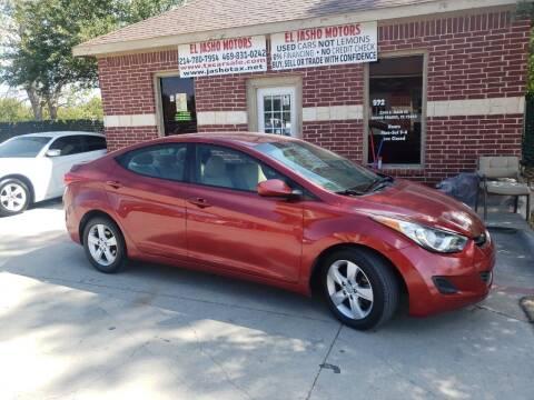 2013 Hyundai Elantra for sale at El Jasho Motors in Grand Prairie TX