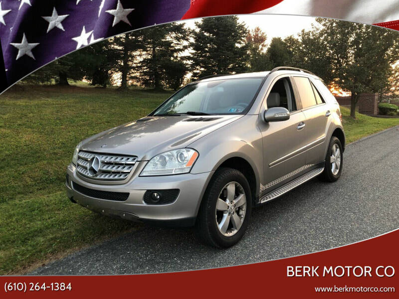 2007 Mercedes-Benz M-Class for sale at Berk Motor Co in Whitehall PA