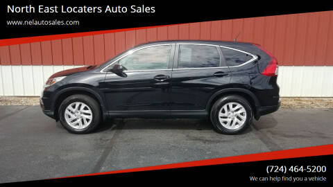 2016 Honda CR-V for sale at North East Locaters Auto Sales in Indiana PA