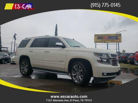 2015 Chevrolet Tahoe for sale at Escar Auto in El Paso TX