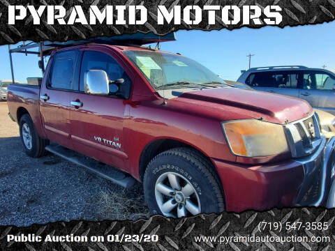 2008 Nissan Titan for sale at PYRAMID MOTORS - Pueblo Lot in Pueblo CO