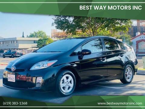 2011 Toyota Prius for sale at BEST WAY MOTORS INC in San Diego CA