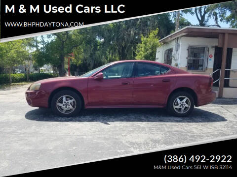 2004 Pontiac Grand Prix for sale at M & M Used Cars LLC in Daytona Beach FL