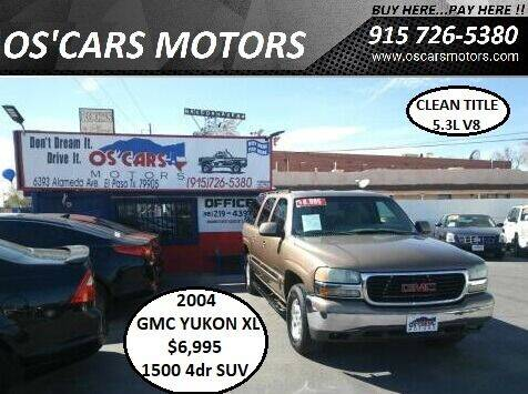 2004 GMC Yukon XL for sale at Os'Cars Motors in El Paso TX