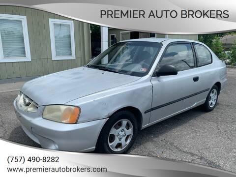 2002 Hyundai Accent for sale at Premier Auto Brokers in Virginia Beach VA