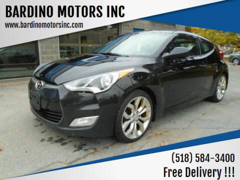 2013 Hyundai Veloster for sale at BARDINO MOTORS INC in Saratoga Springs NY