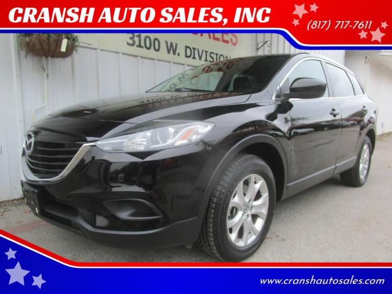 2013 Mazda CX-9 for sale at CRANSH AUTO SALES, INC in Arlington TX