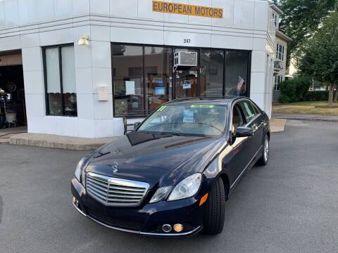 2011 Mercedes-Benz E-Class for sale at European Motors in West Hartford CT
