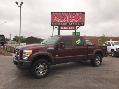 2016 Ford F-250 Super Duty for sale at RAUL'S TRUCK & AUTO SALES, INC in Oklahoma City OK